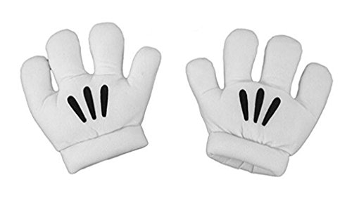 Cartoon Gloves White Adult Costume (Mickey Gloves)