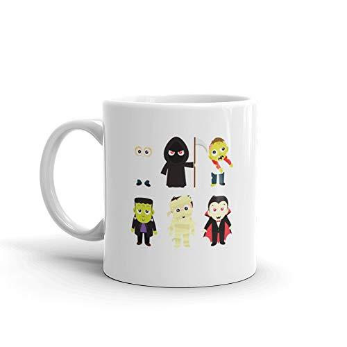 Halloween Trick Or Treat Costumes In White Frankenstein Tea Fun Mug Ceramic Cup -