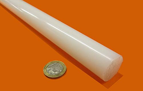 48 In. 1 In. Off White Rod Stock HDPE