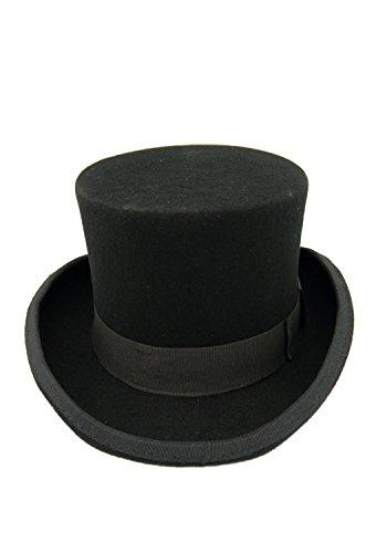 HATsanity Kid's Vintage Wool Felt Topper Hat Black