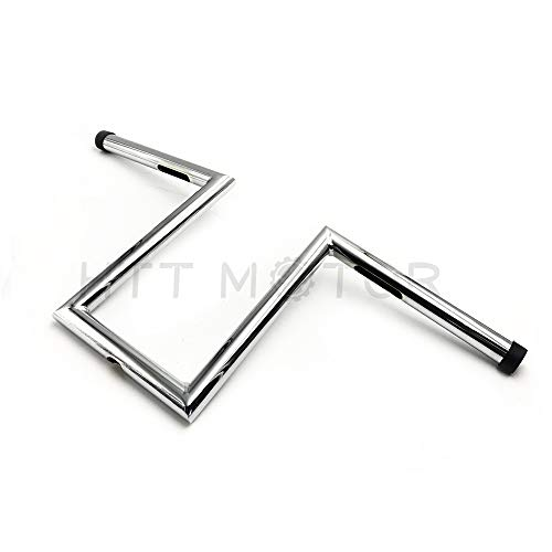 HTTMT HB08-8 Inches Rise 4 Inches Pullback Ape-Hanger Z-Bars 1 inch Handlebars Compatible with XL Sportster Dyna Bobber