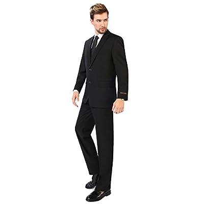 P&L Men's 3-Piece Classic Fit Vest Suit Jacket & Expandable Waist Dress Pants