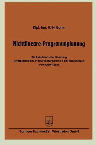 Nichtlineare Programmplanung (German Edition) (Maler Preis)