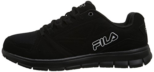 Image of the Fila Men's Best Trainer Running Shoe, Black/Black/Metallic Silver, 10 M US