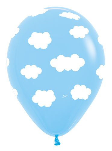Clouds Latex Balloons   Bag Of 10 Size 11 Inches Air Or Helium Fill