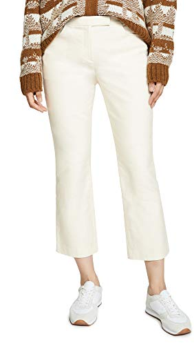 Theory Women's Crop Pants, Ivory, Off White, 12
