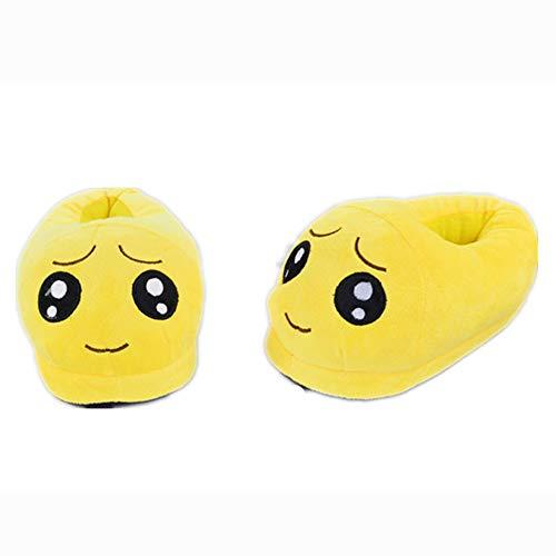 Emoji Kids Unisex Cute Slippers Cartoon Shy Teens Slipper Women Girl Home Plush xSqdXwTq