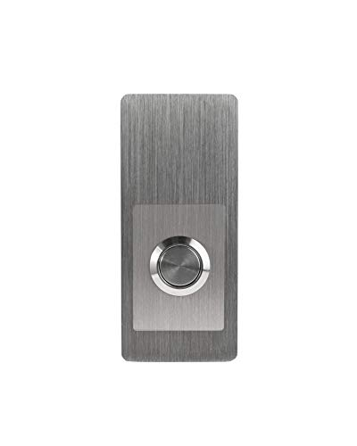 """Modern Stainless Hardware Model R6 Stainless Steel Doorbell Button in 304 Stainless Steel 1.37"""" x 3.14"""" x 5/32"""" (4mm thick)"""