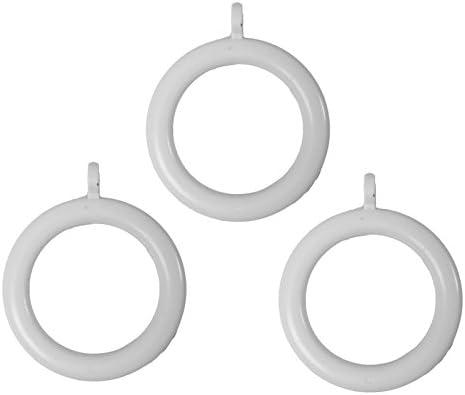 Au/ßen Dia / 1.1//5,1/cm 24/St/ück Bulk Hardware bh05949/Kunststoff Gardinen Stange Ringe mit festen Eye BH05953 1.1//10,2/cm 28/mm /Grau 40/mm innere Dia wei/ß