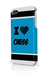 Chess Blue iPhone 5c Case Fits iPhone 5c & iPhone 5c Full Print Plastic Snap On Case