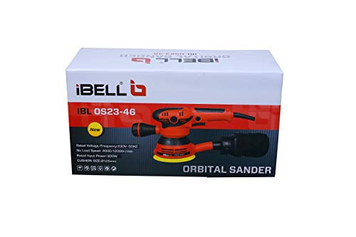 IBELL Random Orbital Sander OS23-46, Watt 300, 125mm, 12000RPM 2