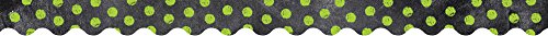 Creative Teaching Press Dots on Chalkboard! Lime Green Borders (0214)