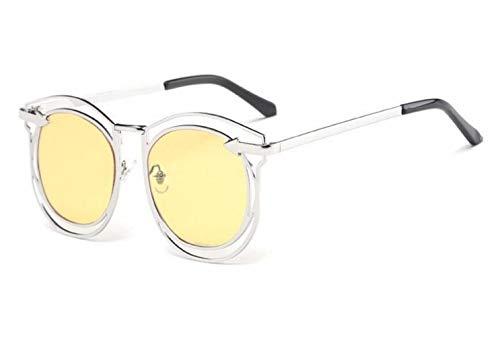FlowerKui de soleil Lunettes de de Yellow lunettes conduite lunettes pour soleil UV400 creux de de cadre de des soleil conduisant unisexe n4YxTnS