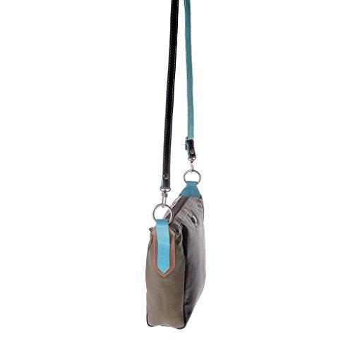 Dudu - Sac porté épaule en cuir - Colorful Collection - Skye - Marron foncé