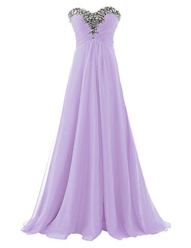 Ballkleid Langes Schatz Formale Erosebridal Abendkleider Trägerloses Lavendel wfgPq0