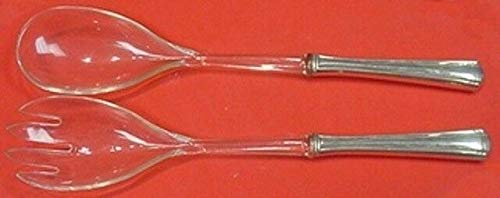 Priscilla Salad - John and Priscilla by Westmorland Sterling Silver Salad Serving Set w/Plastic