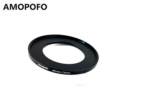 49-72mm /49mm to 72mm Step Up Ring Filter Adapter for UV, ND, CPL, Metal Step Up Ring Adapter SHEYOU