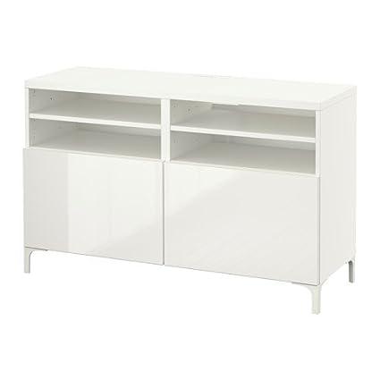 Cool Amazon Com Ikea Tv Bench With Doors White Selsviken High Creativecarmelina Interior Chair Design Creativecarmelinacom