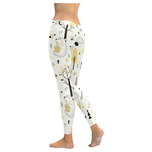 2ad99f01d94 InterestPrint Custom Unique Stretchy Capri Leggings Skinny Pants for Yoga  Running Pilates Gym(2XS-