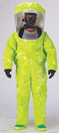 DuPont TK587SLYMD000100 Encapsulated Suit, Training, M, PVC, Lime Yellow