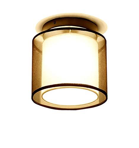 Nickel Matt Ceiling Pendant - JJL Modern Modern Square Outdoor Ceiling Lamp/Ceiling Flush Light 1 Steel/Nickel Matt/Satin - Glass/Stainless Steel Rectangle E27 Max, 1 x 60 Watt/Garden Lighting/Lights