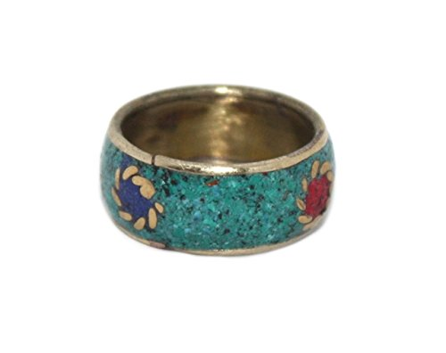 Coral Ring, Lapis Ring, Turquoise Ring, Tibetan Ring, Nepal Ring, Gypsy Ring, Boho Ring (Tibetan Turquoise Ring)