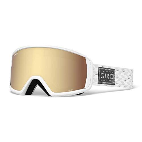 Giro Gaze Womens Snow Goggles White/Silver Shimmer - Amber Gold