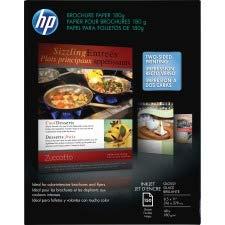 HP Q1987A Inkjet Brochure/Flyer Paper, 98 Brightness, 48lb, 8-1/2 x 11, White, 150/Pack by HP