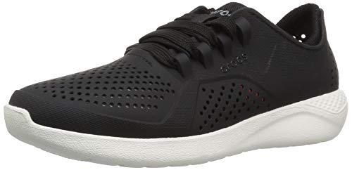 Crocs Women's LiteRide Pacer Sneaker, Black, 4 M US