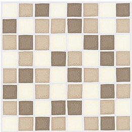 pack of 30 coffee cream brown mosaic tile transfers stickers peel