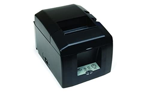 Star Micronics 39449590 Model TSP654IID-24 GRY US Thermal Printer, Cutter, Serial, External Power Supply, - 24 Thermal Printer Cutter
