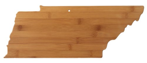 Totally Bamboo State Cutting & Serving Board, Tennessee, 100% Bamboo Board for Cooking and Entertaining (Titans Tennessee Display)