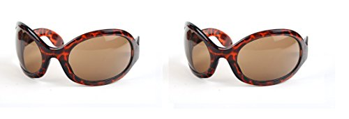 Pop Fashionwear Unisex Color Bug Eye Sunglasses Retro Rave Shades P501 (2 Pcs Tortoise- Brown Lens &Tortoise-Brown - Sunglasses Bug Mens Eye