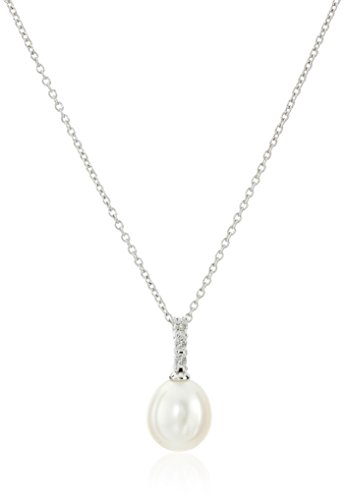 Sterling 8 5 9mm Freshwater Cultured Necklace