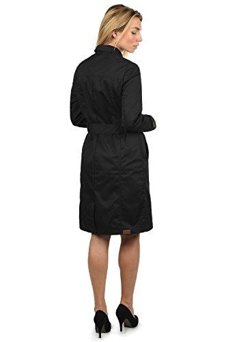 Femme Revers Desires 9000 Coat D'été Ceinture Pour Avec Black Manteau Trench À Col Thea w6qPx6Yg