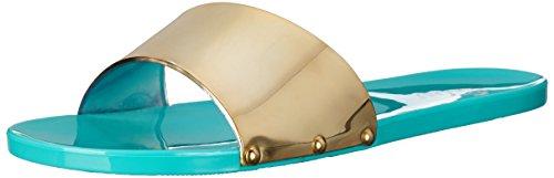 - Nomad Women's Taffy Slide Sandal, Green/Gold, 9 M US