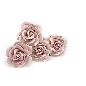 "1.5"" Blush Pink Mulberry Paper Flowers Pink Wedding DIY Wedding Decor DIY Paper Bouquet Artificial Flowers Wedding Crafts Home Decorations Baby Shower Decor, 12 Pieces 90"