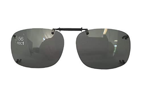 Solar Shield Gray Polarized Clip On ultra light frame 56 Rec ()