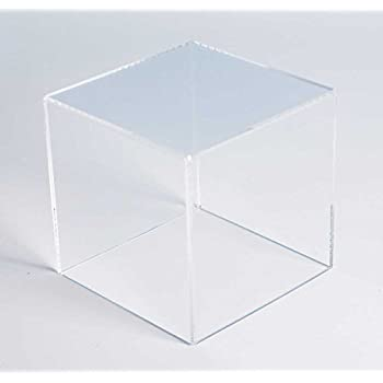 Amazon Com Museum Box Case 5 Sided Acrylic Cube 10