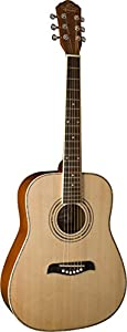 Oscar Schmidt OG1LH-A-U Natural Lefty 3/4 Size Dreadnought Guitar