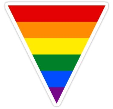ROD Design Magnet LGBT Equality Rainbow Triangle 4x4 Gay Pride Magnet Vinyl Magnetic Sheet for Lockers, Cars, Signs, Refrigerator ()