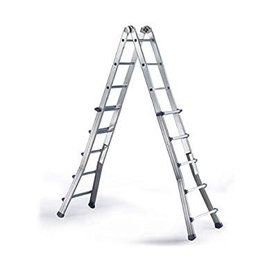 Disset Odiseo PDL0504 Escalera profesional extensible Estrella Plus fabricada en aluminio; 12+12 peldaños.: Amazon.es: Industria, empresas y ciencia