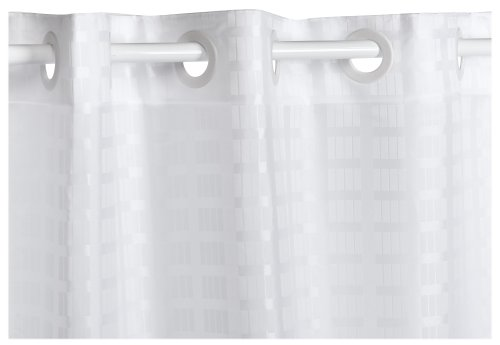 Hookless Litchfield 71-by-74-Inch Fabric Shower Curtain, White