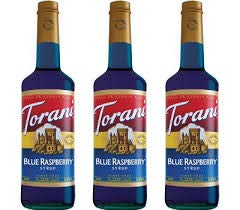 Torani Syrup, Blue Raspberry, 750mL Bottles (Pack of 3)