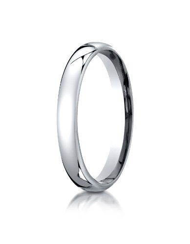 10K White Gold 3.5mm European Comfort-Fit Wedding Band Ring for Men & Women Size 4 to 15