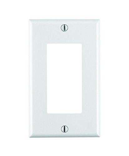 Leviton 80401-W  1-Gang Decora/GFCI Device Decora Wallplate, Standard Size, Thermoset, Device Mount, 20-Pack, White