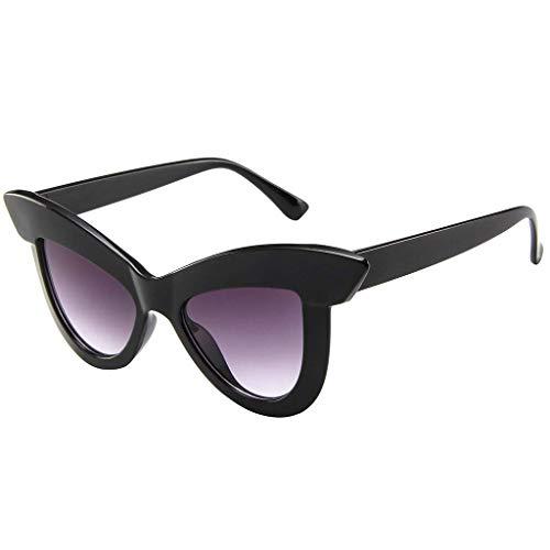 - LODDD Women Cat Eye Sunglasses Retro Big Eyebrow Eyeglass Frame Eyewear Fashion Sunglasses