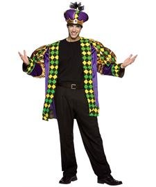 [Mardi Gras King Size: One Size] (Mardi Gras Costumes Amazon)