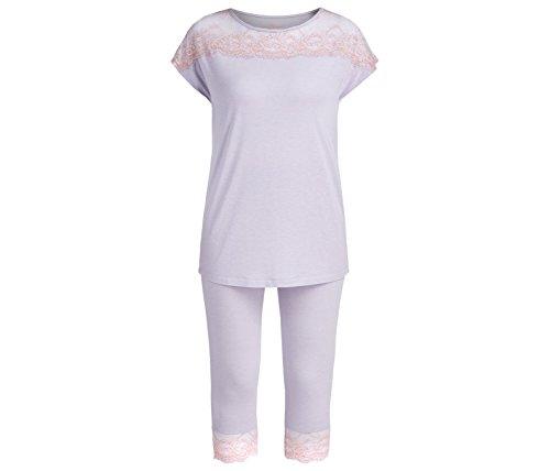 Palmers Pyjama Cool Summernight - Pijama Mujer Mehrfarbig (FLIEDER-BUNT 382)