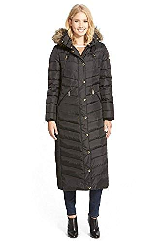 Michael Kors Women's Black Belted Down Maxi Coat (XS) ()
